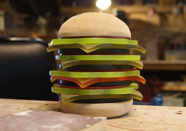 Hamburger LED Lamp