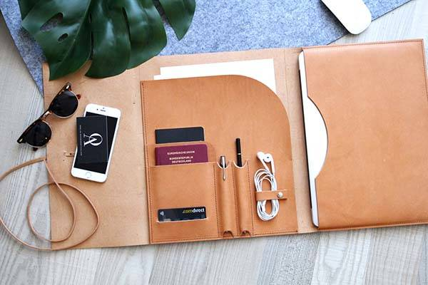 Handmade Customizable MacBook Leather Sleeve