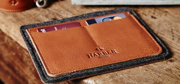 Handmade Slim Leather Passport Wallet