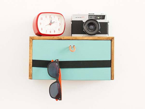 The Handmade Wooden Wall Shelf Fits Over Switch Plates or Wall Outlet Covers