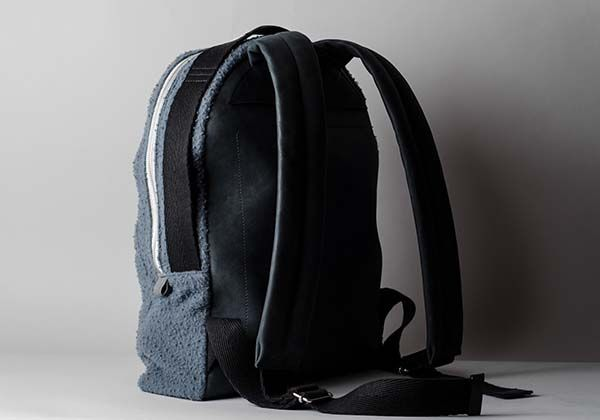 Hard Graft Misfit Wool Leather Backpack