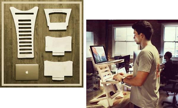 HumbleWorks Portable and Adjustable Standing Desk Gadgetsin