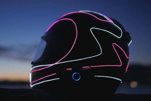 LightMode Customizable Helmet Electroluminescent Light Kits