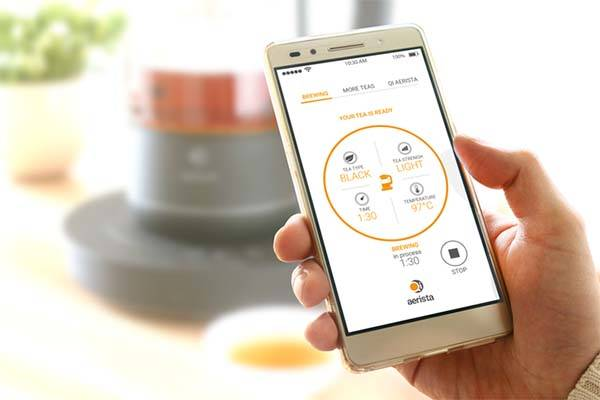 Qi Aerista App Enabled Smart Tea Maker with WiFi