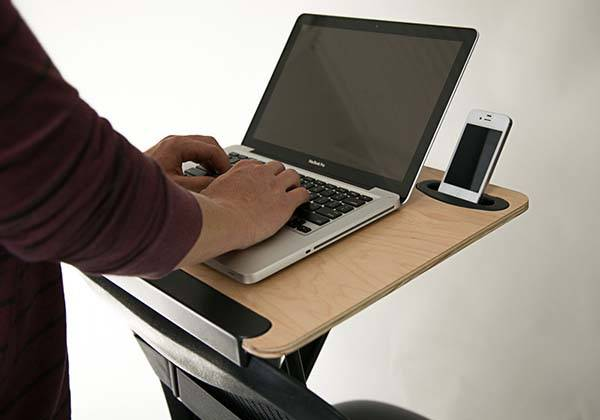 StorkStand Portable Standing Desk Designed to Fit on Your Chair