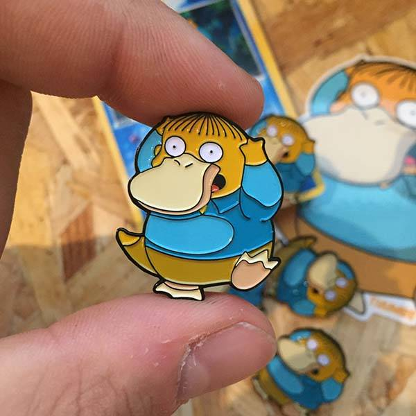 The Simpsons x Pokemon Mashup Pin Badges, Prints and Stickers