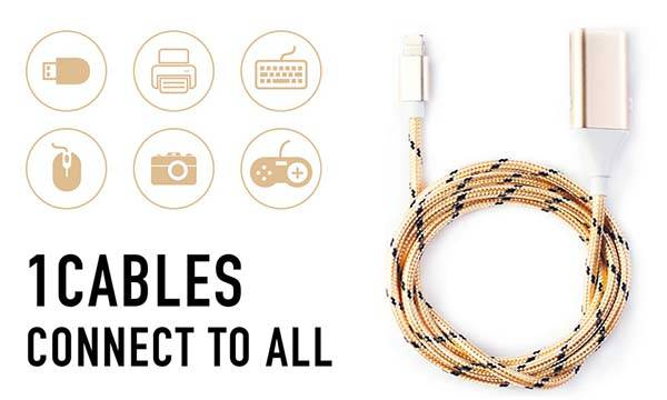 1Cables Smart Data Sync Cable for iOS, Android and USB-C