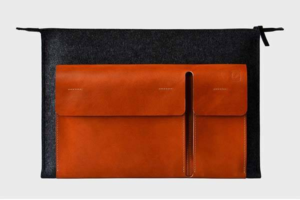 The Handmade Holdall Leather MacBook Pro Case