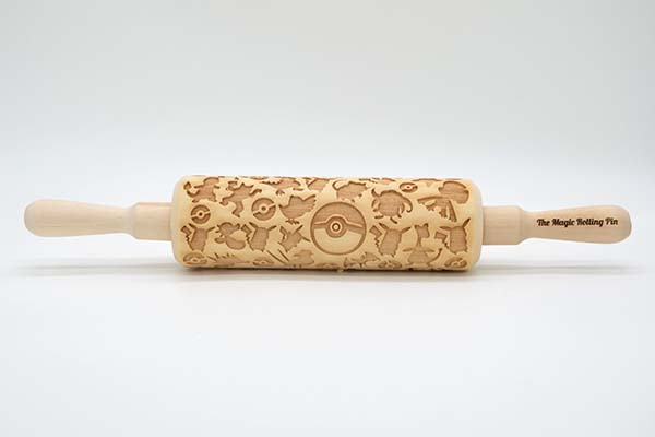 Handmade Pokemon Pattern Engraved Rolling Pin