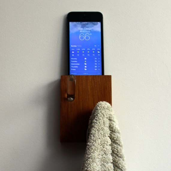 Handmade Wall Hanger with iPhone Dock