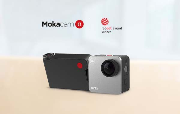 Mokacam Alpha 4K Action Camera with Rotatable Screen Module