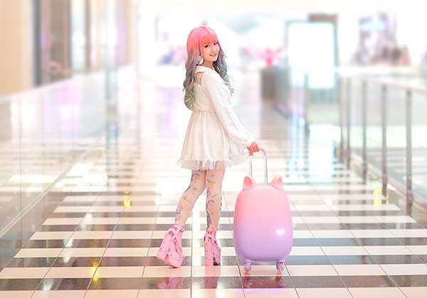 Pretty Cute Fravel Luggage with Movable Ears