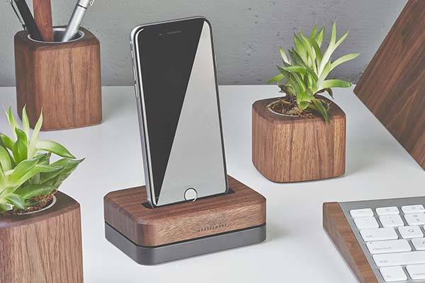 Grovemade Wood and Aluminum iPhone Dock