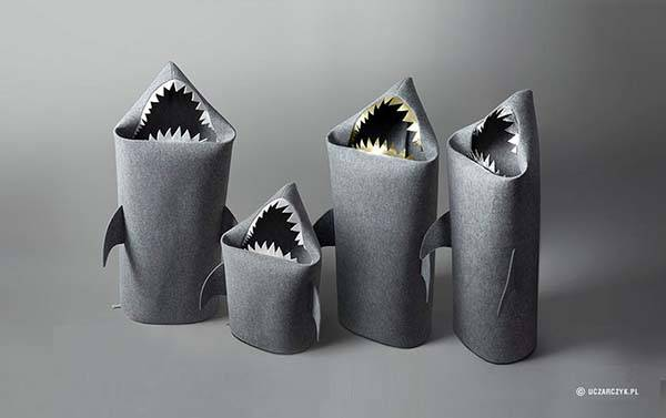 Handmade Baby Shark Kids Toy Storage Bins