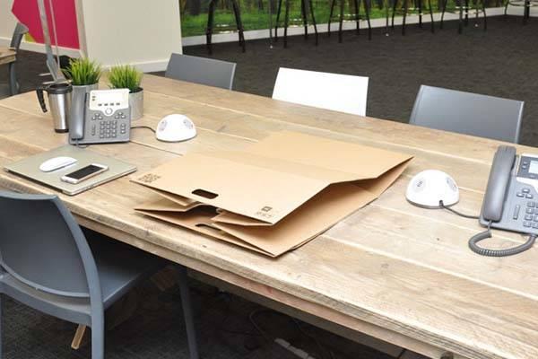 Handmade Cardboard Foldable Standing Desk
