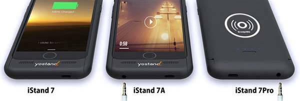 iStand Pro iPhone 7/7 Plus Battery Case with 3.5mm Audio Jack and Wireless Charging