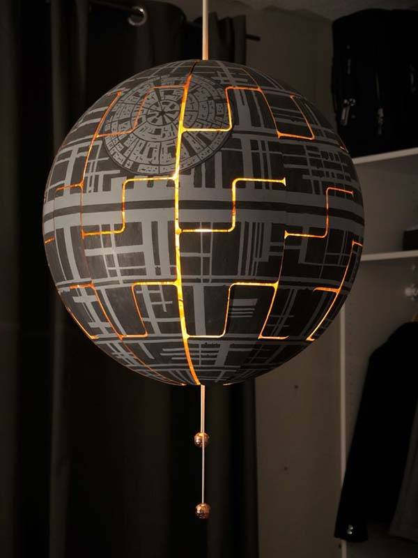 DIY Star Wars Death Star Pendant Lamp