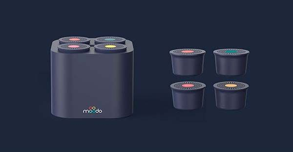 Moodo Smart Fragrance Diffuser with Four Changeable Capsules