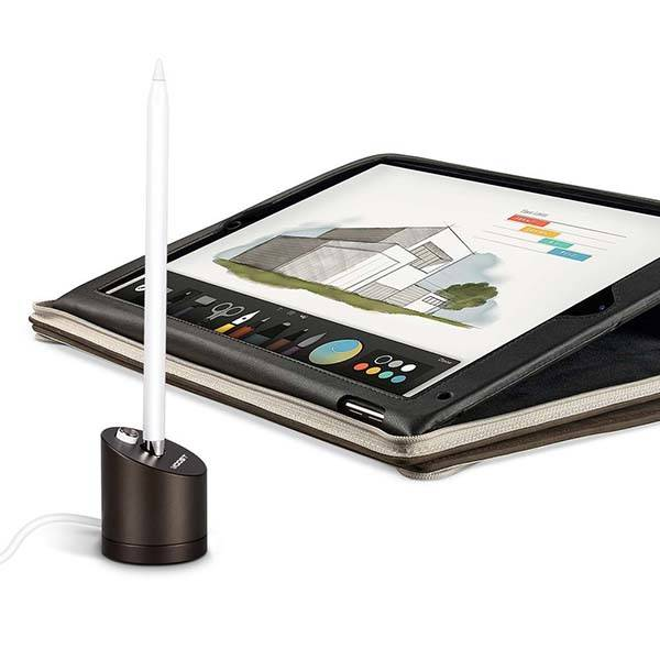 The Aluminum Apple Pencil Charging Station with Built-in Cable