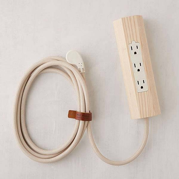 Most Modest Niko Wooden Power Strip