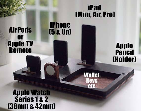 Handmade Charging Station for iPhone, iPad, Apple Watch and AirPods