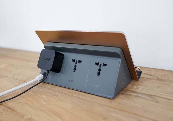 Powerstation Wireless Charging Station with Smart Plug
