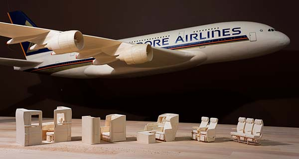 Singapore Airlines AirBus A380 Paper Plane Replica