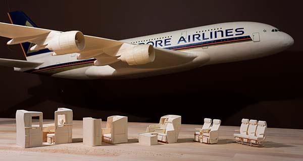 Singapore Airlines AirBus A380 Paper Plane Replica
