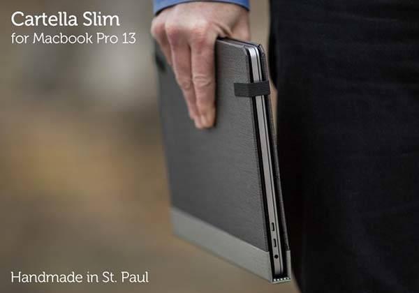 super popular b02a2 612b5 Pad&Quill Cartella Slim 2016 13″ MacBook Pro Case | Gadgetsin