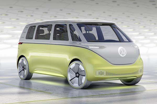 Volkswagen I.D. Buzz VW Bus Inspired Concept Car