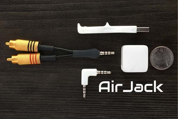 AirJack Bluetooth Adapter for Any Audio Device with AUX or RCA Input