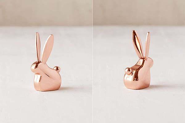 Critter Metal Ring Holder - Bunny