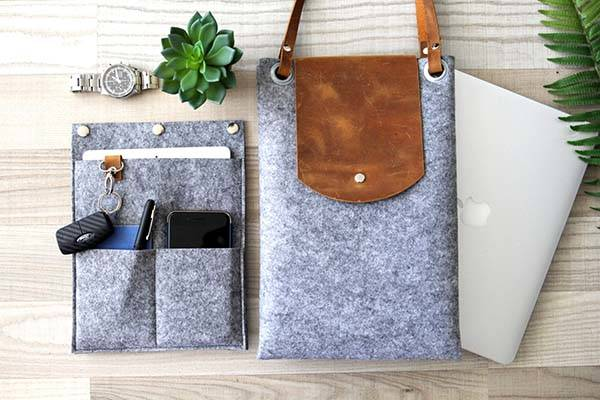 Handmade Customizable Laptop Tote Bag