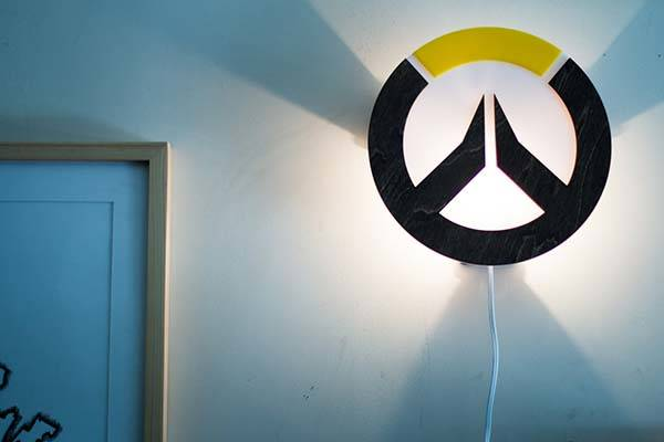 Handmade Overwatch Wall Lamp