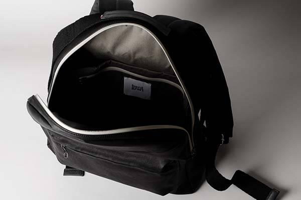 Hard Graft Misfit Black Leather Backpack