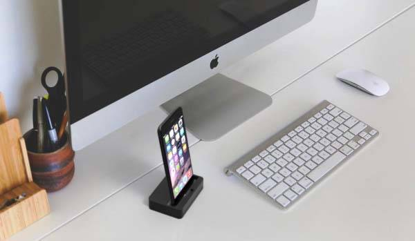Lecan I/O iPhone Dock with 3.5mm Audio Jack