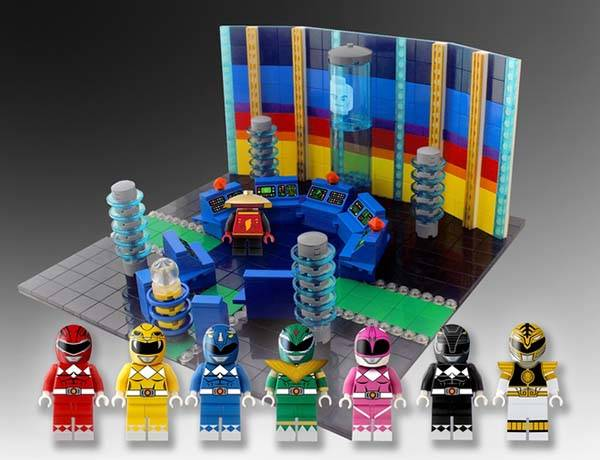 Mighty Morphin Power Rangers LEGO Set