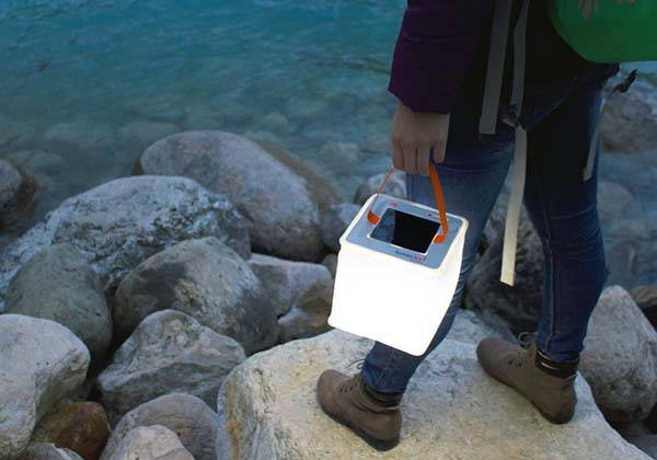 PackLite Max Inflatable Solar LED Lantern with Power Bank