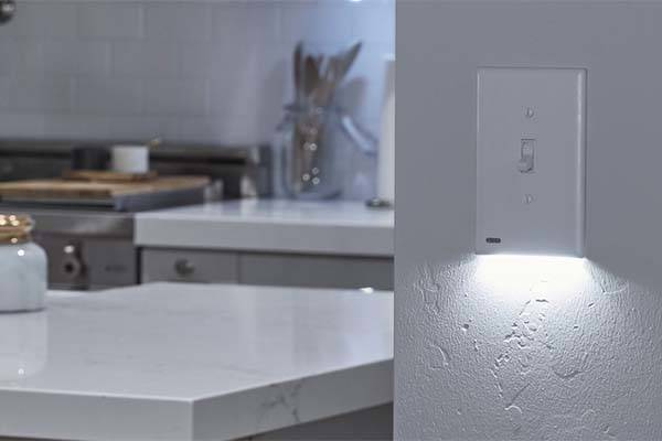 SnapPower SwitchLight Light Switch Cover with LED Night Light