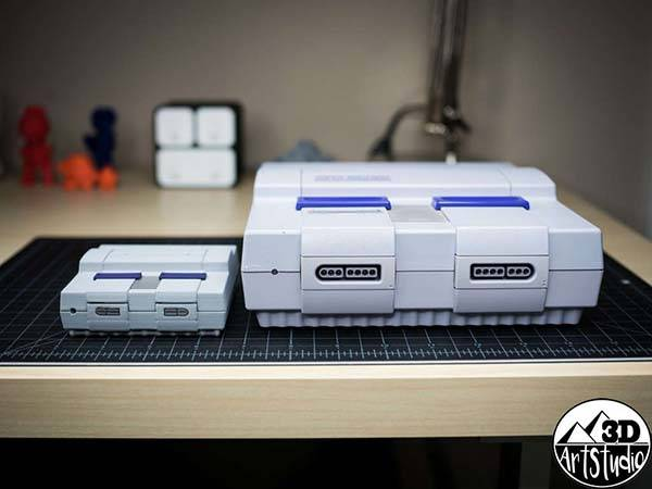 3D Printed Super NES Raspberry Pi Case