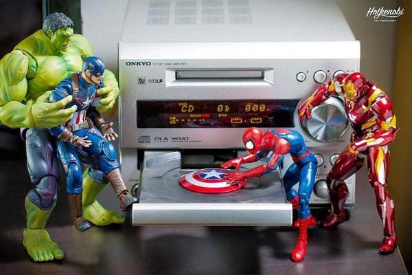 The Awesome Mashup Photos of Superhero Action Figures