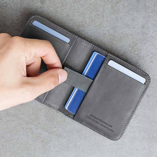 Wally Agent Slim Bifold Leather Wallet