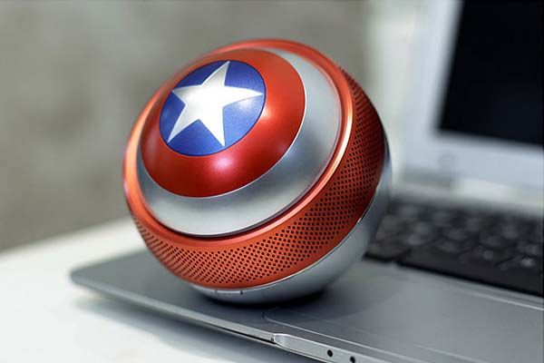 Captain America Shield Portable Bluetooth Speaker