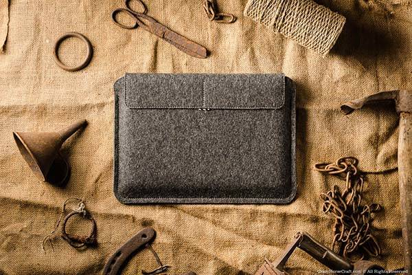 CrazyHorseCraft Handmade MacBook Pro Leather Case