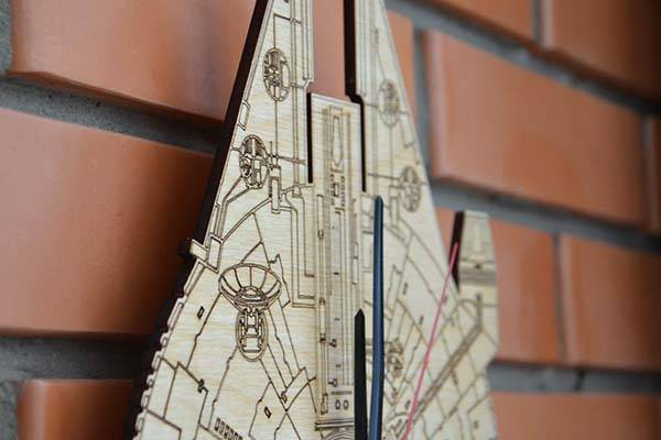 Handmade Star Wars Millennium Falcon Wall Clock