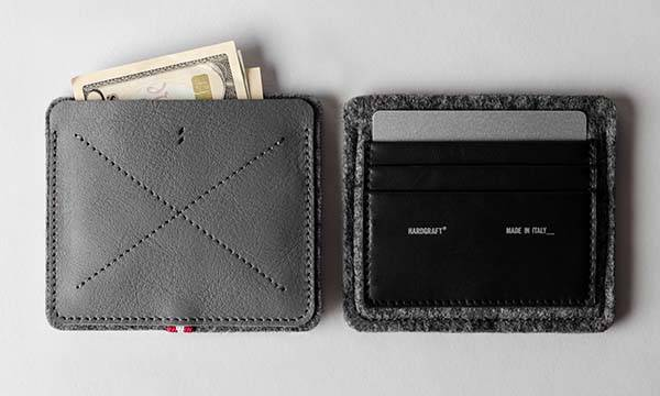 Hard Graft No Fold Leather Slim Wallet