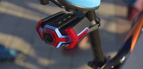 Hexagon Bicycle Hd Rear View Camera With Activity Tracker