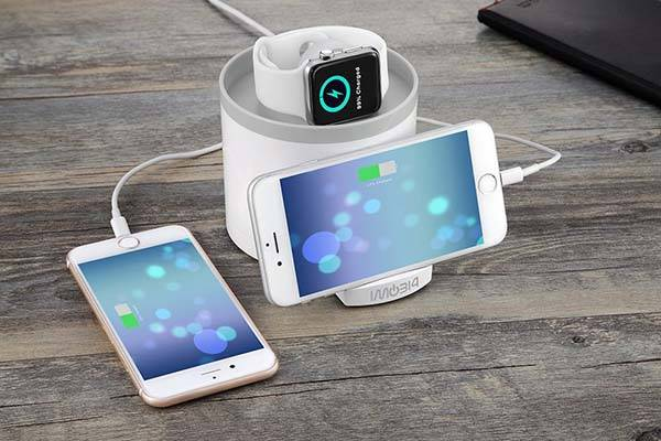 Imobi4 Charging Station with Apple Watch Stand