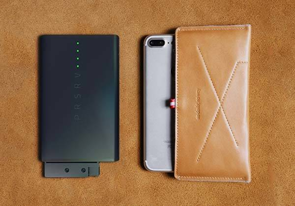 PRSRV Power Bank with Ejectable Backup Battery