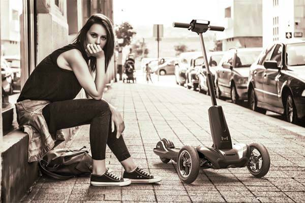 Transboard Foldable 3-Wheel Electric Scooter